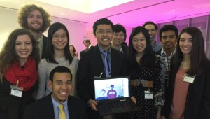 A virtual reunion of SSP '10 alumni, this group at MIT, others at Stanford, via video chat