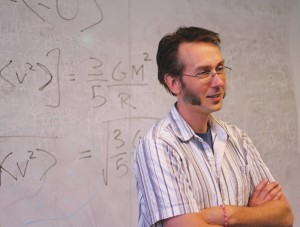 Dr. Adam Rengstorf teaching gravity