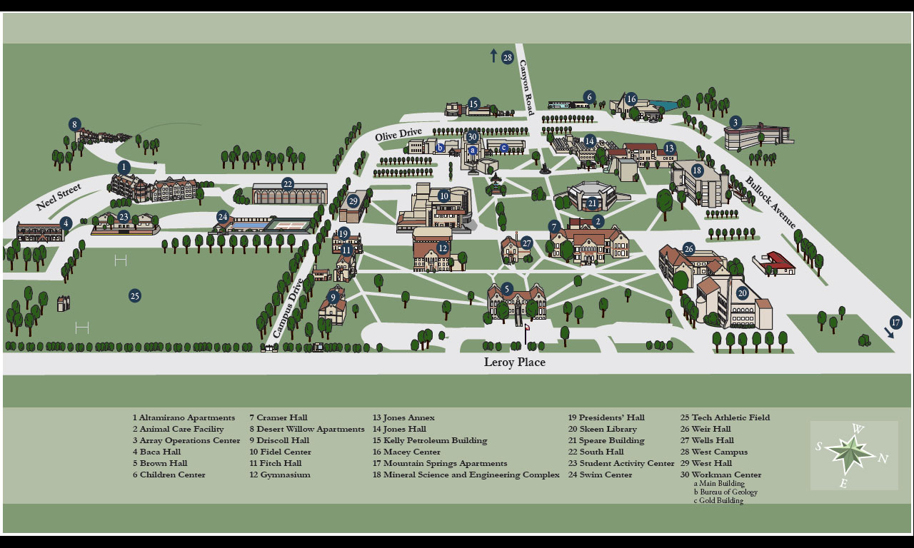 Cal Tech Campus Map.Open House Day At New Mexico Tech Ssp