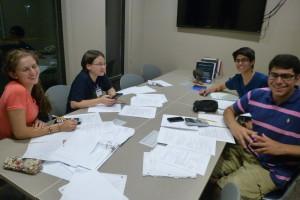an evening study group