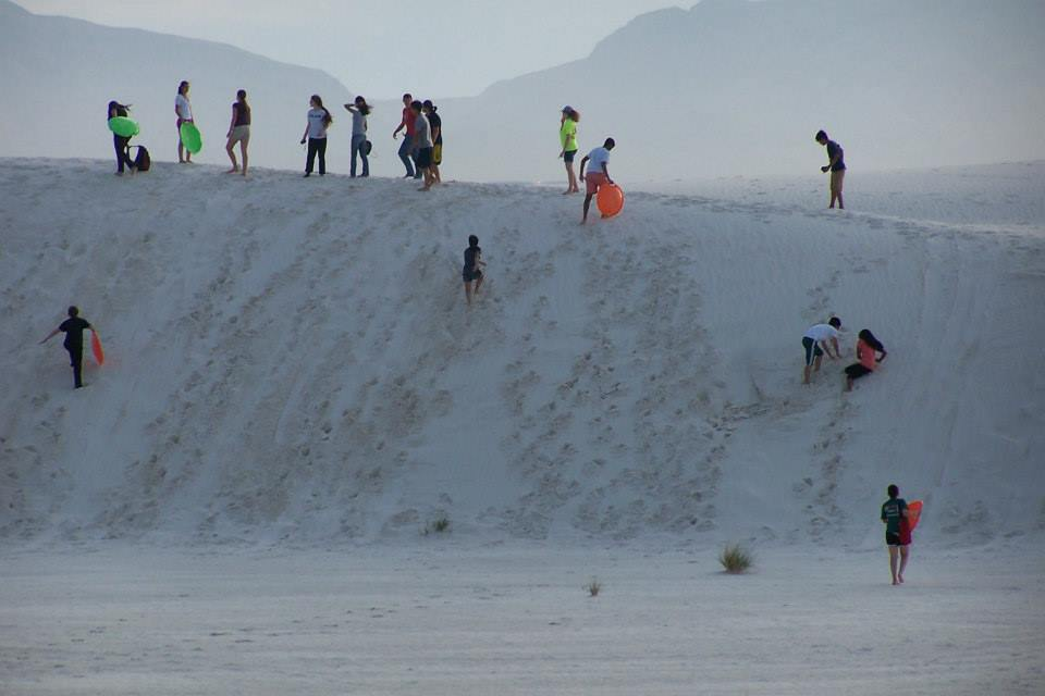 Field trip to White Sands National Monument in NM